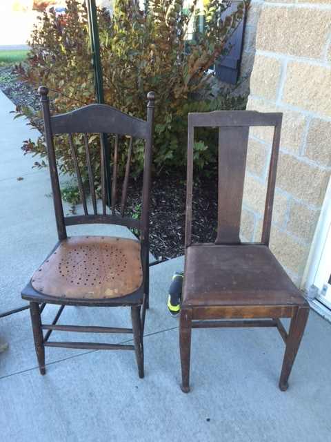 Farmhouse Chairs before