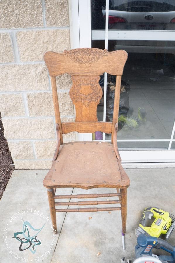 Repurposed Chair Shelf Designed Decor