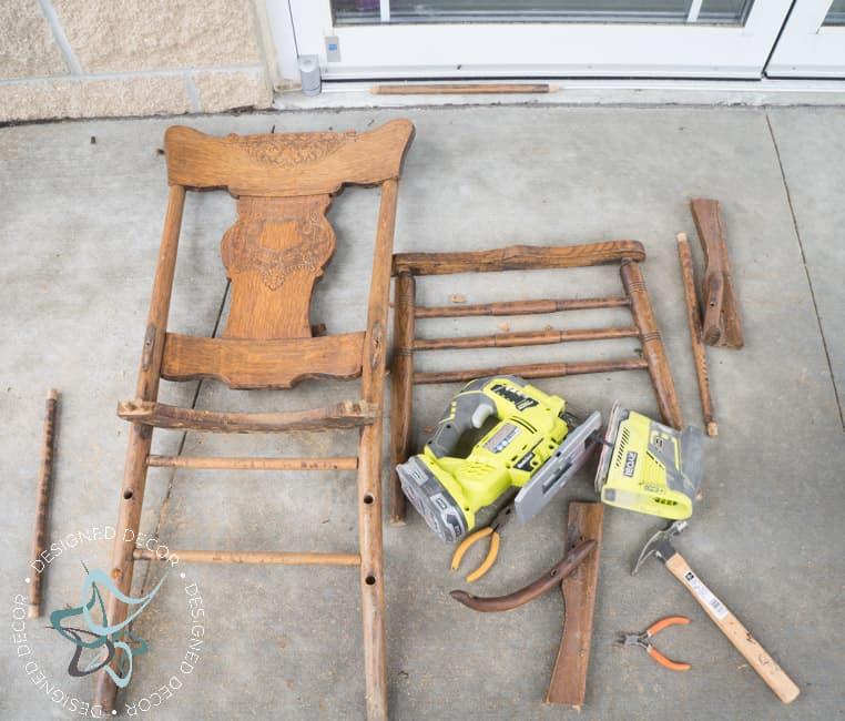 Repurposed Chair Shelf-Towel Holder-5