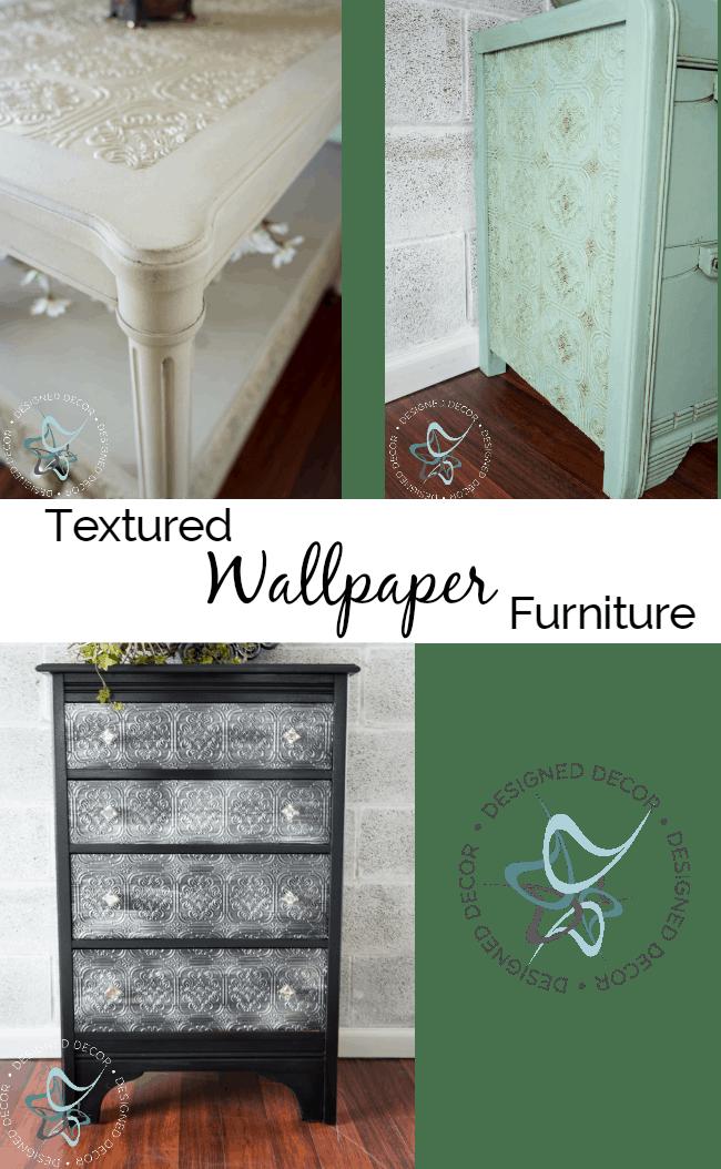 textured wallpaper furniture