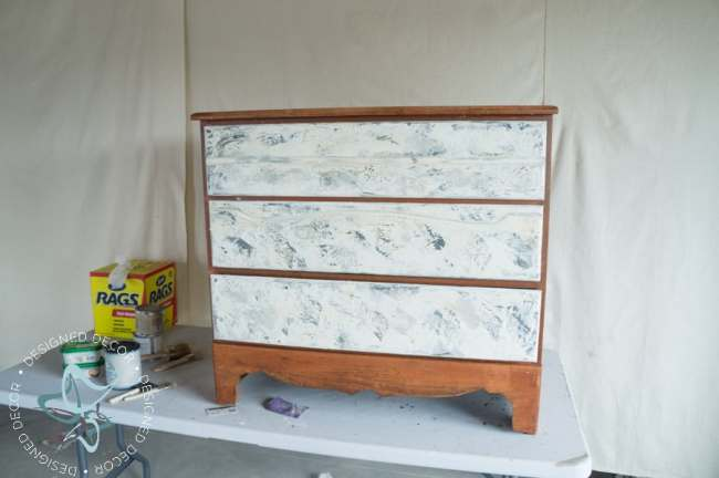 3 drawer chest in progress to add plaster to the drawer fronts