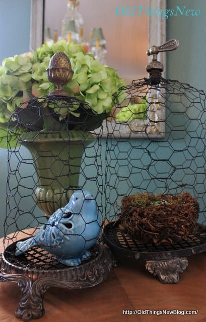 DIY-Chicken-Wire-Cloche-Old Things New Blog