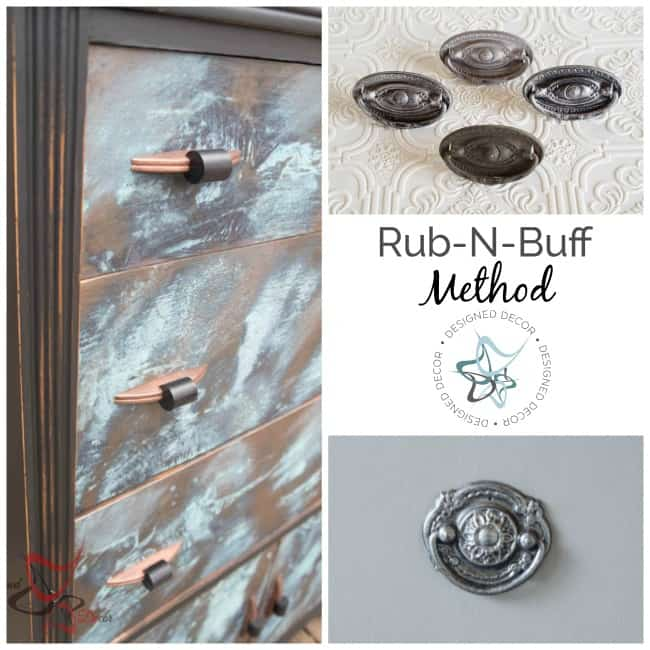 How to Paint Hardware- Run-n-Buff Method-Designed Decor