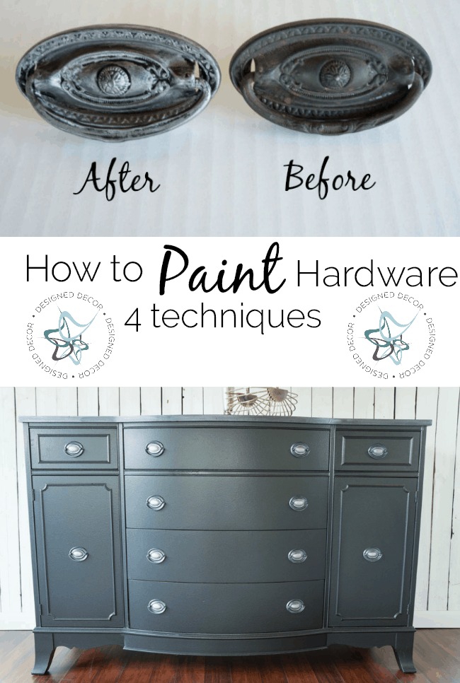 How to Paint Furniture Hardware – In this workshop, you will learn 4  different techniques to finish your furniture hardware. The 4 finishes are  Classic ... - Online Furniture Painting Workshops! ~- Designed Decor