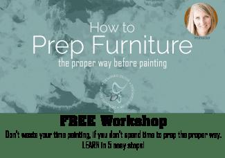 How to prep furniture- Free Workshop- Designed Decor 326x228