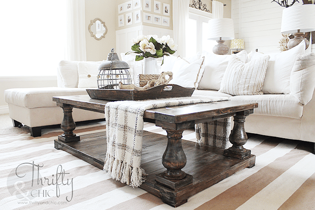 Thrify Chic DIY Balustrade coffee table