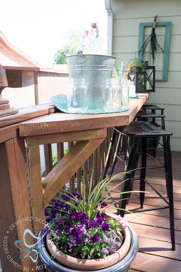 Build A DIY Flip Up Deck Bar! ~- Designed Decor