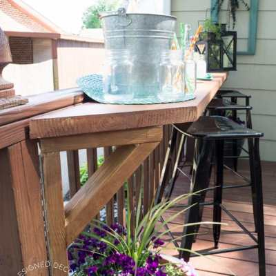 Build a DIY Flip Up Deck Bar!