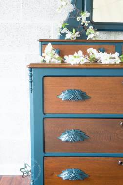 Custom Blue Eastlake Dresser-10