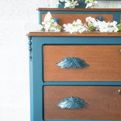 Dressers Finished with Custom Blue Furniture Paint!