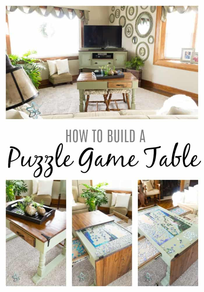 DIY Puzzle Game Table ~- Designed Decor