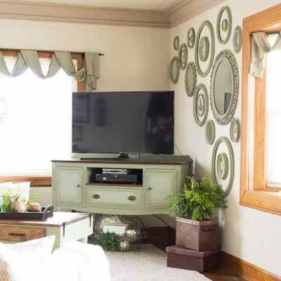Vintage Buffet transformed into a stylish Media Center