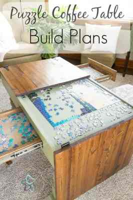 jigsaw puzzle coffee table build plans