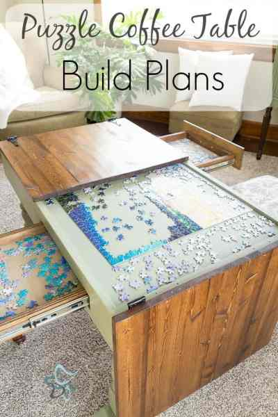 Puzzle Coffee Table Build Plans