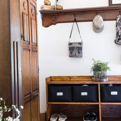 Transforming the Laundry Room into a Budget-Friendly Mudroom!
