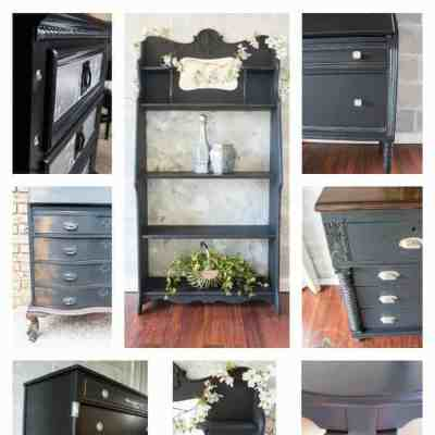 Black Paint can Make a Simple Update to Furniture