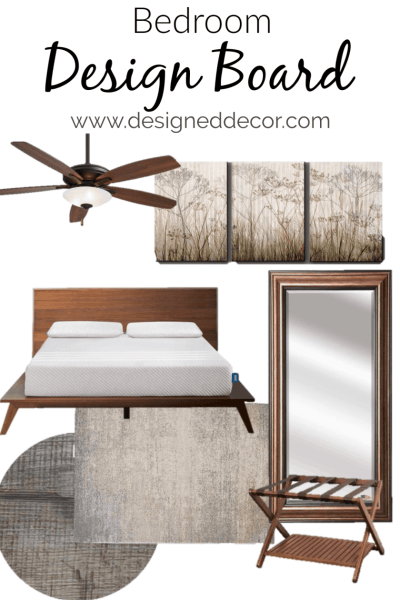 Stylish Bedroom Design Board for our Airbnb