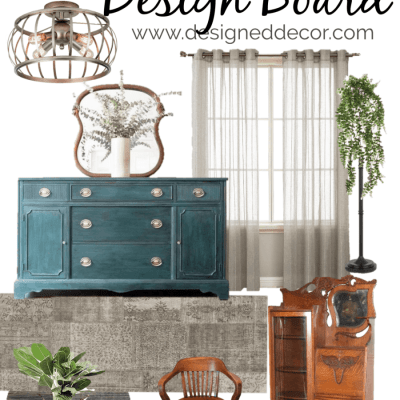 Modern Entryway Design Board with Vintage Touches