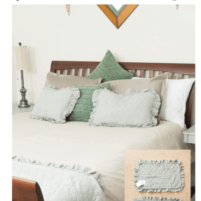 DIY Fabric Placemat Pillow Shams for the Guest Suite