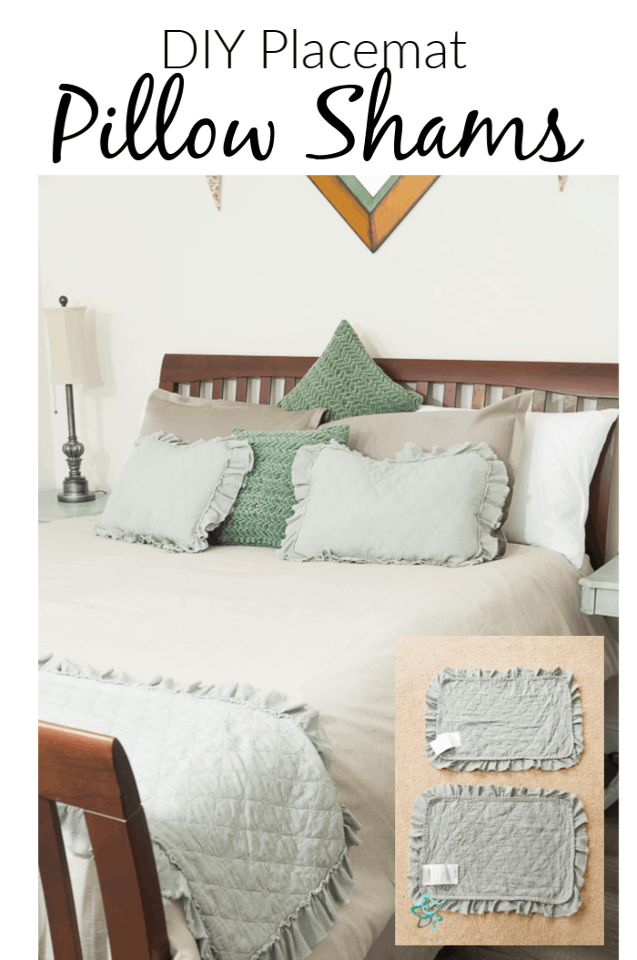 Diy-Placemat Pillow Shams using fabric placemats in 5 easy steps.
