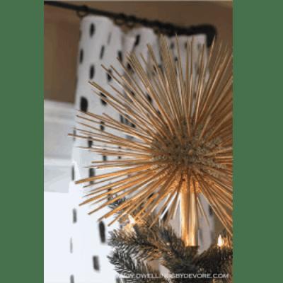 DIY Glitter Starburst Tree Topper- Dwellings by Devore