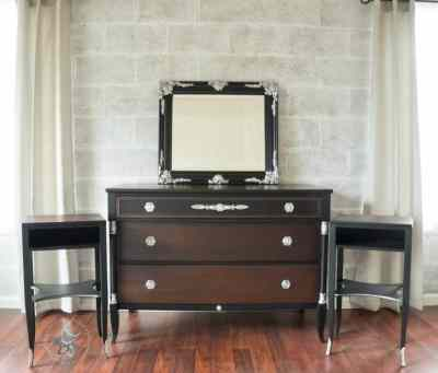 updated neoclassical dresser and nightstands