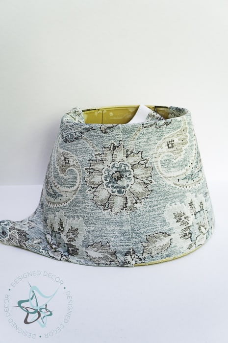 align fabric on lampshade