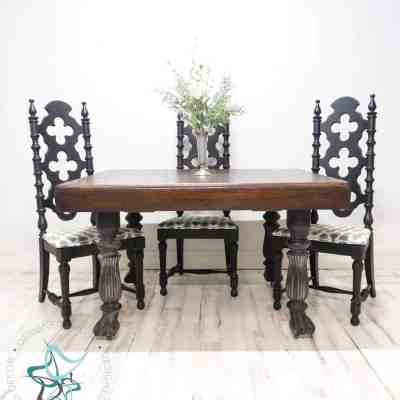 Easily enhancing the age of an antique table