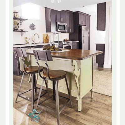 Convert old dresser to unique kitchen island