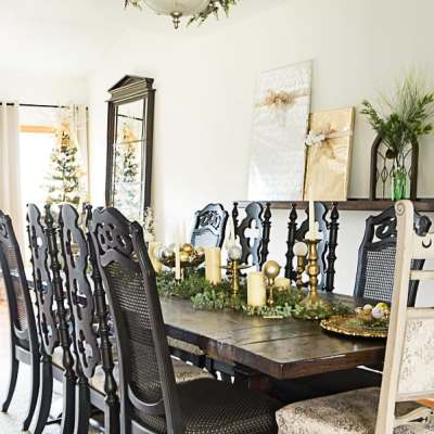 Christmas Dining Room Decorating with simple and classic touches