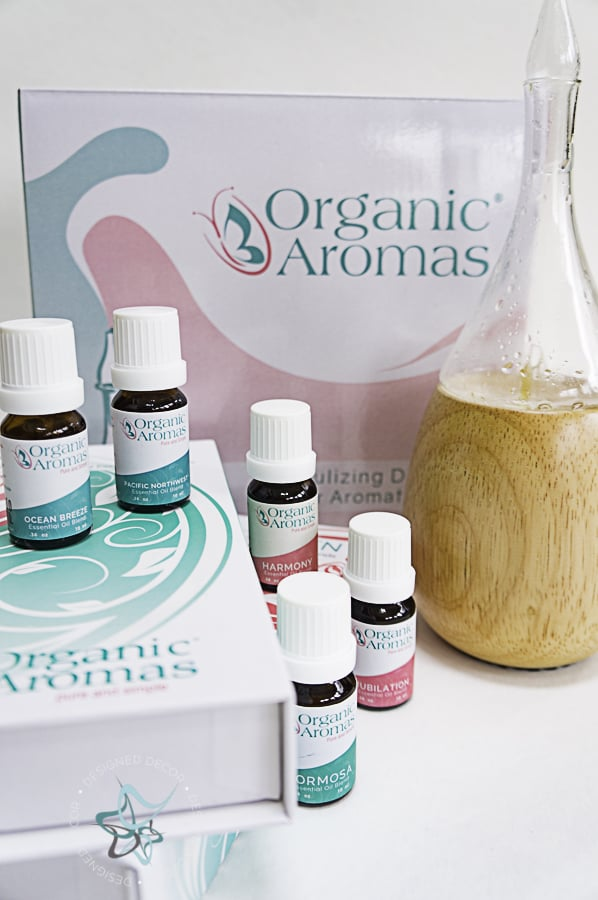 picture of essential oils and a diffuser