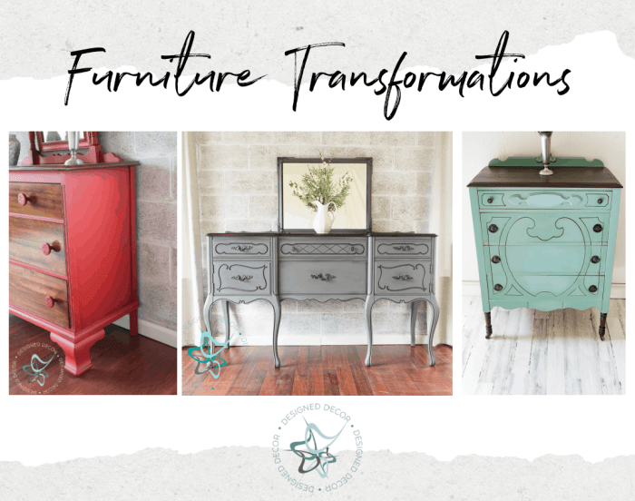 after photos of painted transform furniture pieces