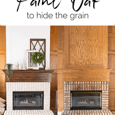 How to properly paint oak to hide the grain
