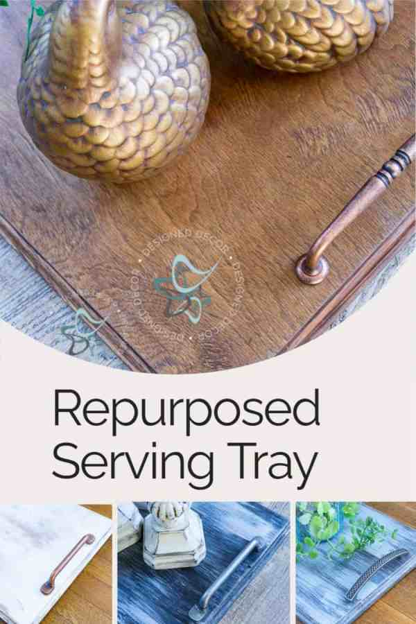 graphic of different images of repurposed serving trays