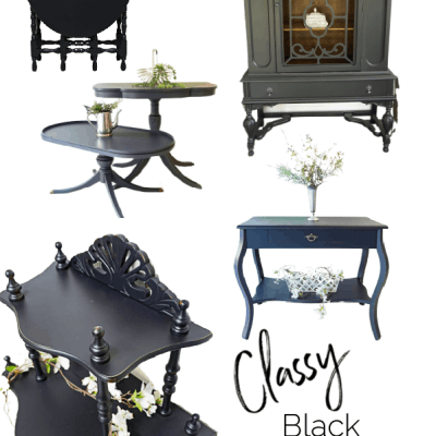 The best classy black painted furniture makeovers