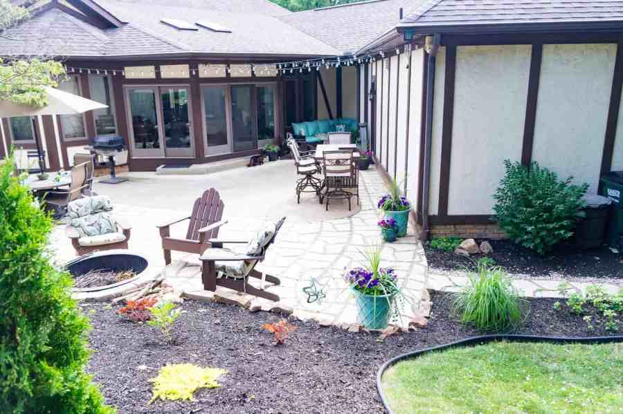 after image of a patio makeover