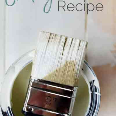Make your own easy DIY Chalk Paint Recipe!