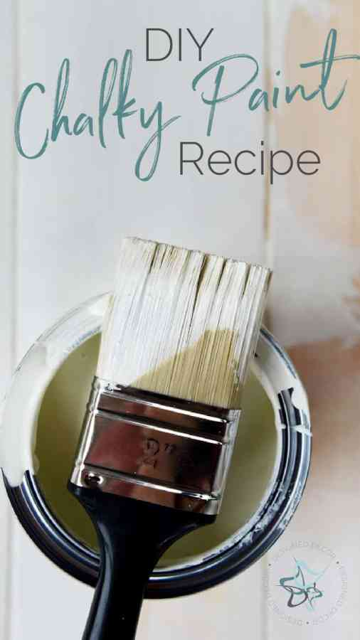 graphic for DIY chalk paint recipe