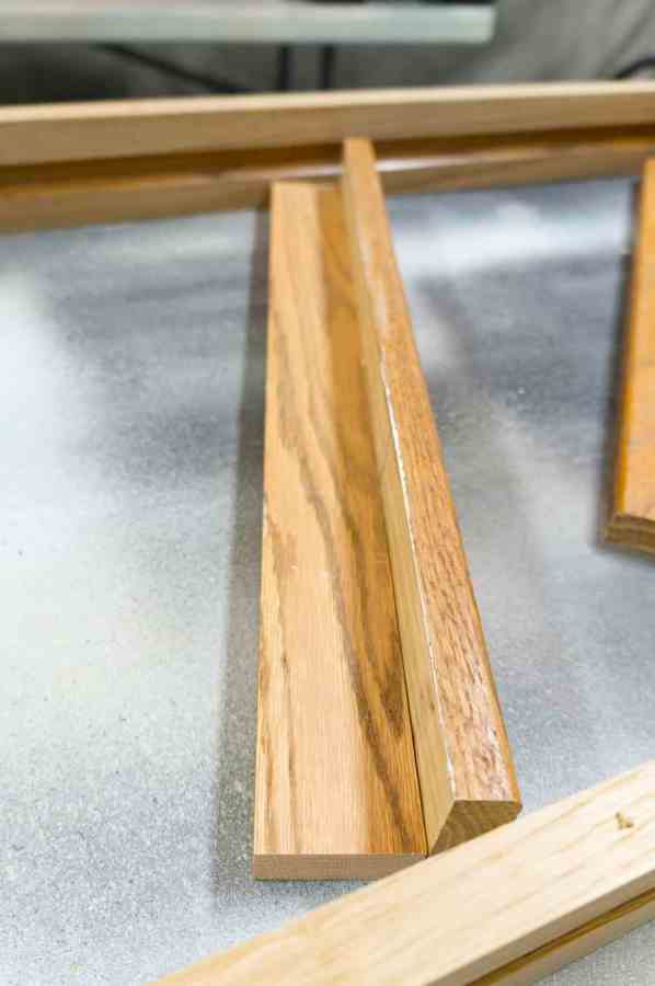 close up image of a wood shelf