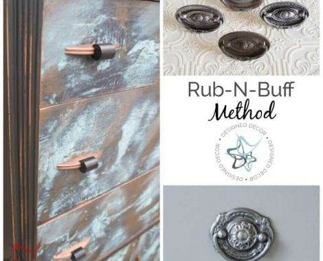 How to Paint Hardware- Run-n-Buff Method-Designed Decor