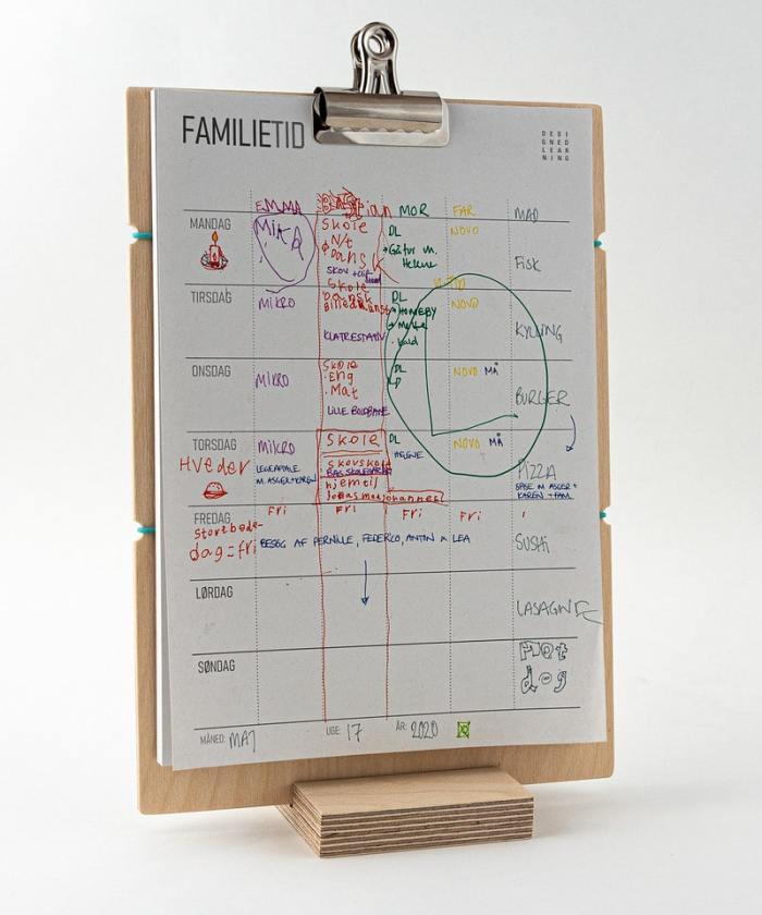 familietid, kalender, planner