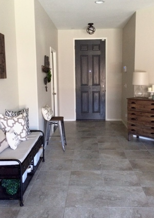 Entryway Makeover & Industrial Bench