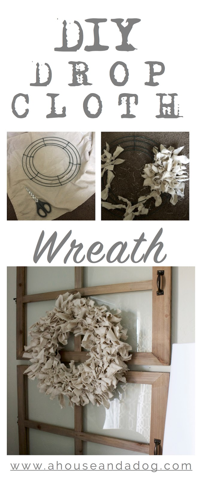 DIY Drop Cloth Wreath - simple, easy & perfect for Fall!