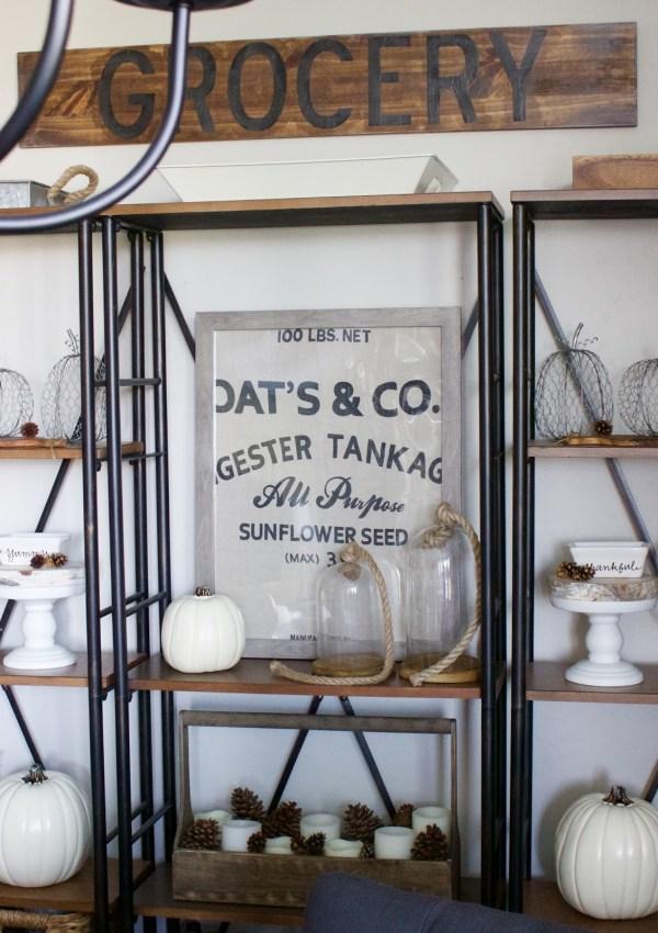 Fall Dining Shelves & a Shelf Update