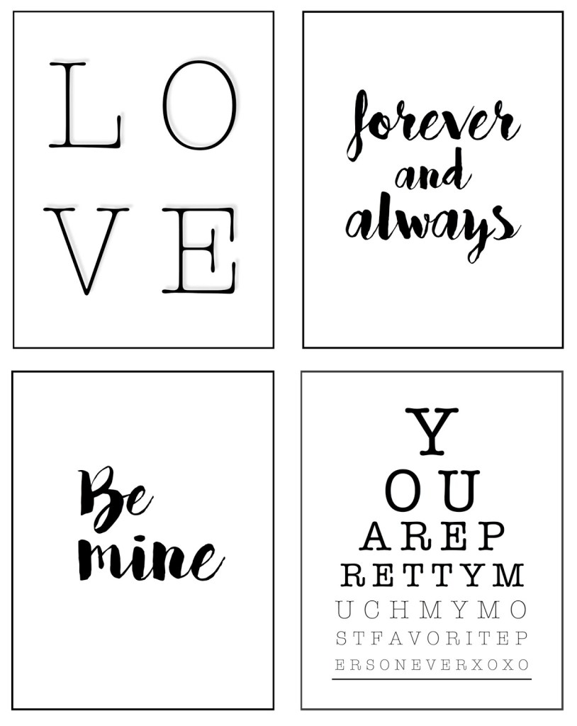 FREE Valentine's Day Printables | designedsimple.com