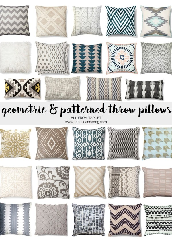 Geometric & Patterned Throw Pillows