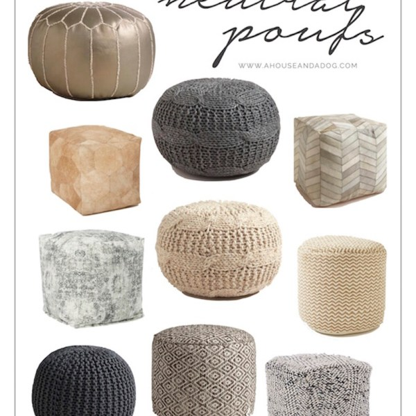 Affordable and neutral poufs for the home!
