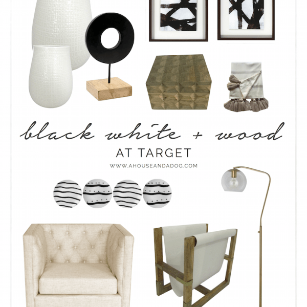 Black, White + Wood Decor at Target!