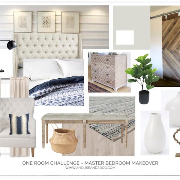 One Room Challenge - Master Bedroom Makeover Design Plan | designedsimple.com