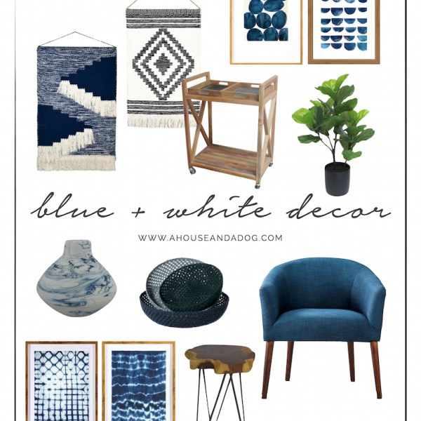Blue and White Decor is very IN right now! | designedsimple.com